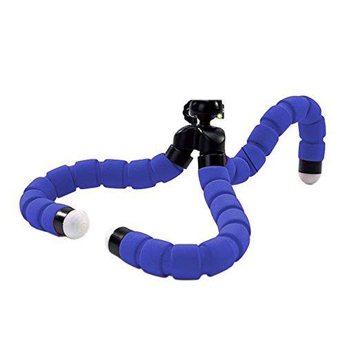 Mini Tripé Flexível Azul para Celular e Câmera Octopus