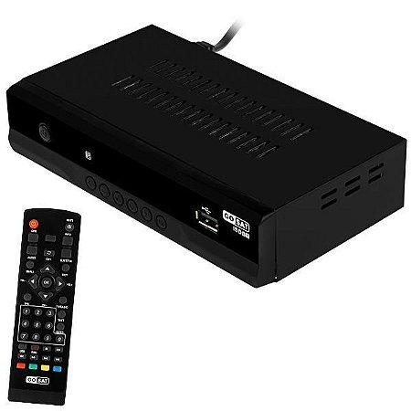 Conversor de TV Digital ISDB-T GoSat Full HD com Gravador/HDMI/USB/Bivolt - Preto