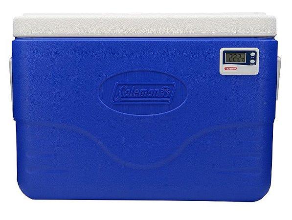 Caixa térmica 26 litros PU Termômetro Digital Max e Min