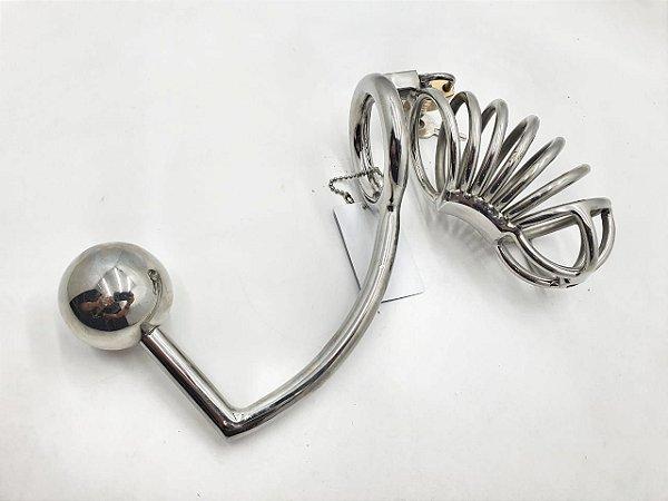 Castidade Peniana Com Plug Anal - G