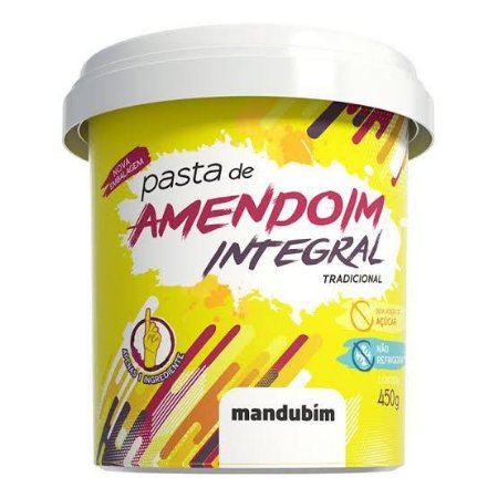 MANDUBIM PASTA DE AMENDOIM INTEGRAL 450G