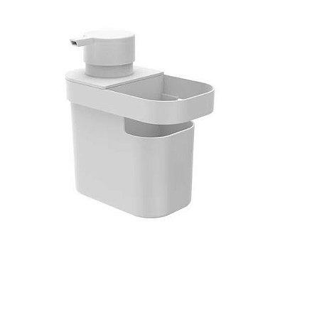 Dispenser para Detergente e Organizador de Pia Trium 650ml Branco
