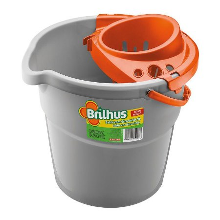 Balde Brilhus 9 Litros C/ Escorredor