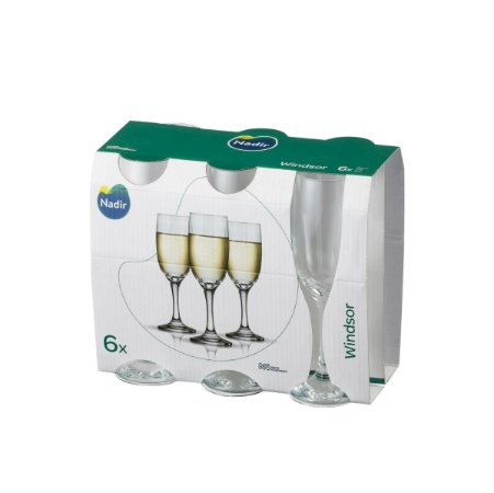 Jogo Taça Windsor Champagne 210ml C/ 06 Unidades