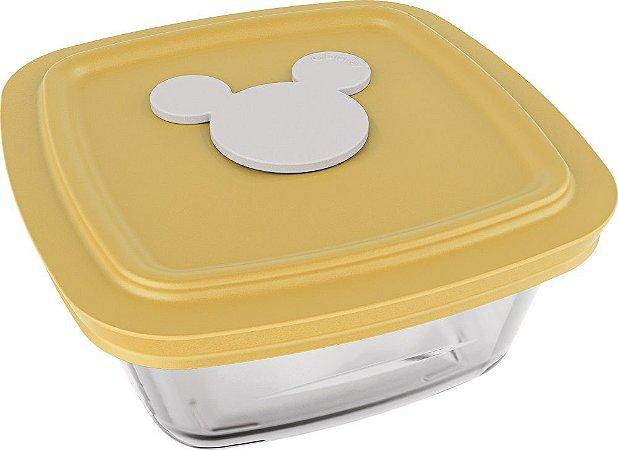 Pote Facilita Disney Baby 300 ml com Tampa Colorida C/ 03 Peças - Azul | Amarelo | Rosa