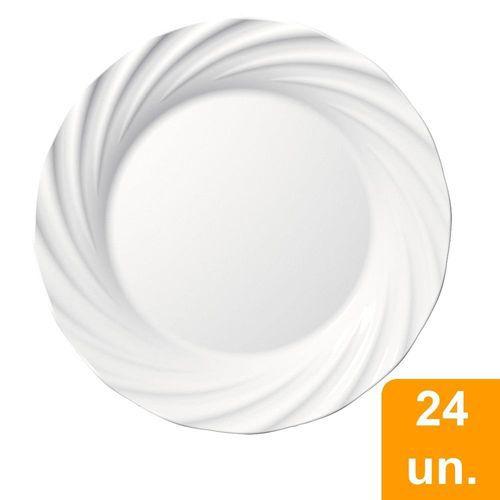 PRATO OPALINE JASMIM SOBREMESA 19CM CAIXA COM 24 UNIDADES - NADIR DE FIGUEIREDO