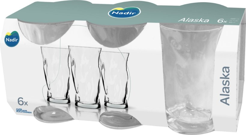 JOGO DE COPO ALASKA LONG DRINK 400ML COM 6 UNIDADES - NADIR FIGUEIREDO