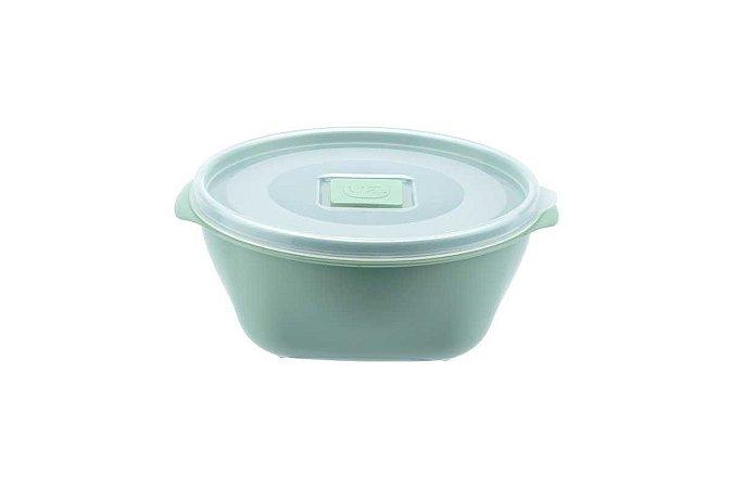 Conjunto C/ 03 Potes Multiuso Premium 800ml Verde Menta Sólido