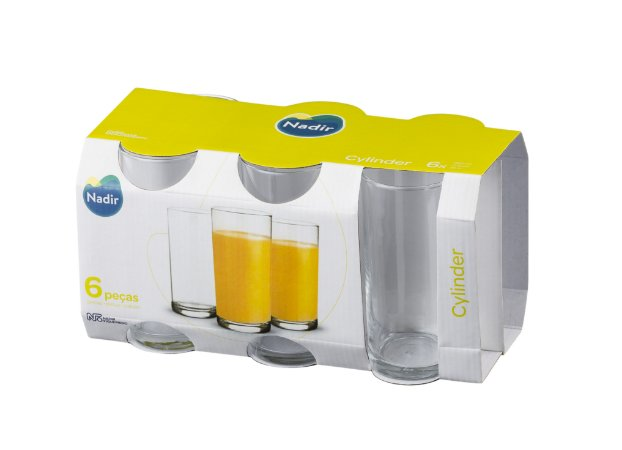 JOGO DE COPO CYLINDER LONG DRINK 350ML COM 6 UNIDADES - NADIR FIGUEIREDO