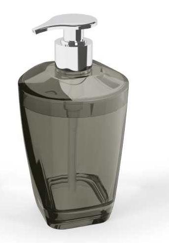 Porta Sabonete Líquido Premium Preto Translúcido