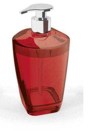 Porta Sabonete Líquido Premium Vermelho Translúcido