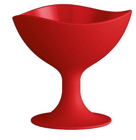 Kit C/ 03 Taças para Sorvete 300ml Vermelho Sólido