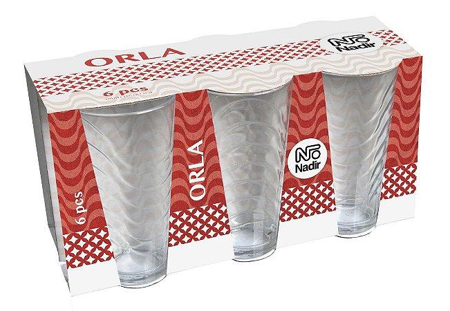 JOGO DE COPO ORLA LONG DRINK 350ML 410ML COM 06 UNIDADES - CAIXA COM 06 JOGOS – NADIR FIGUEIREDO