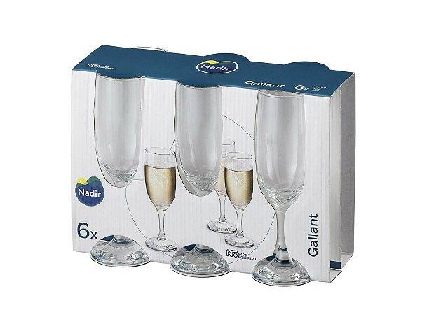 Jogo Taça Gallant Champagne 180ml C/ 06 Unidades