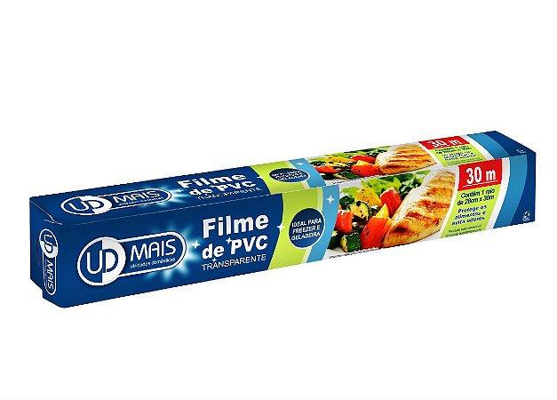 FILME DE PVC TRANSPARENTE 28CM X 30M - UD MAIS