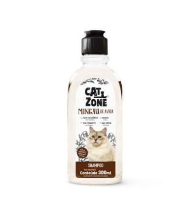 Shampoo Mingau  De Aveia Cat Zone 300ml - Procão
