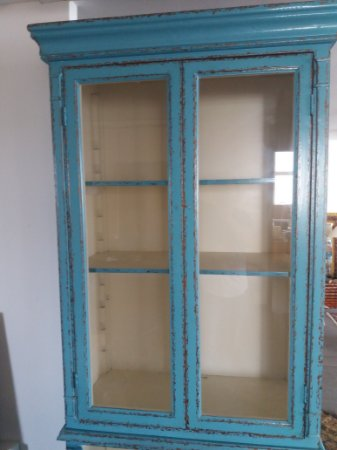 Armário retrô com vidros , móveis Vitrine