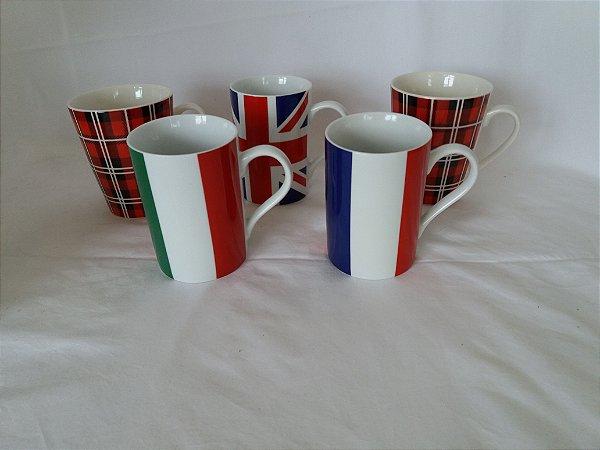 Conjunto canecas porcelanas