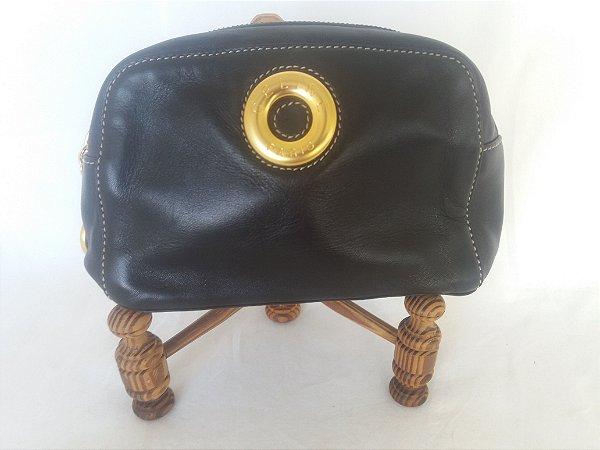Bolsa Clutch , marca Celine, Francesa em napa preta original, usada uma vez , impecável