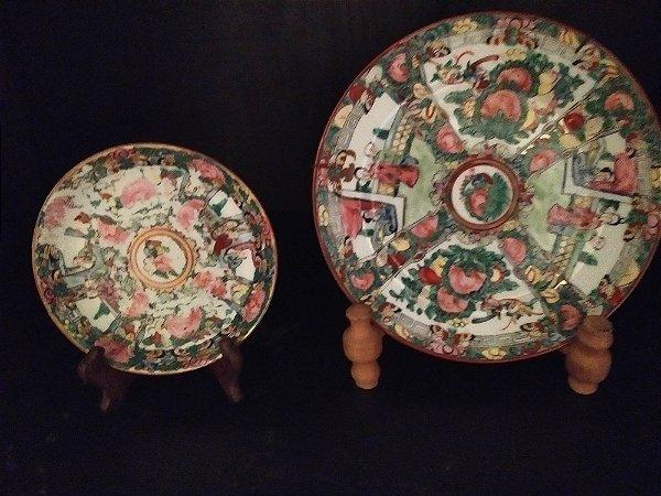Prato Imari , porcelana japonesa antiga , policromia 21 e 14 cm pintada a mão em alto relevo