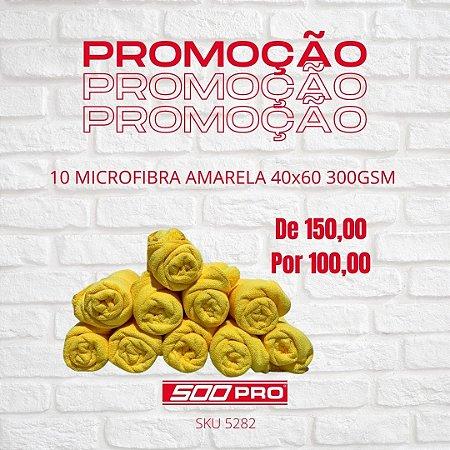 10 TOALHAS DE MICROFIBRA AMARELA 40x60 300GSM - KERS