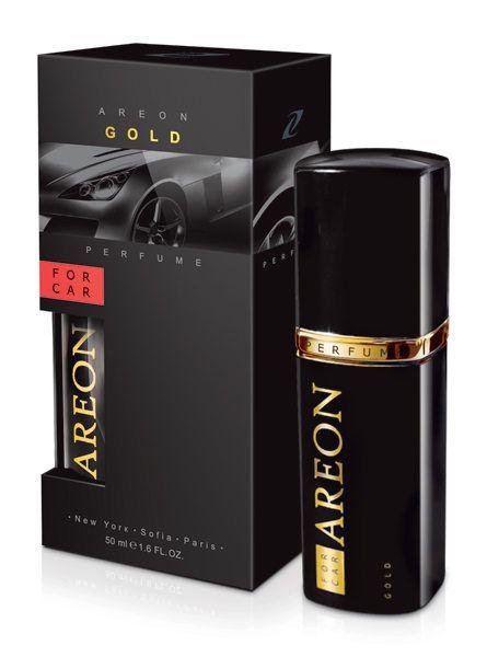 PERFUME PREMIUM PARA CARROS GOLD 50ML - AREON
