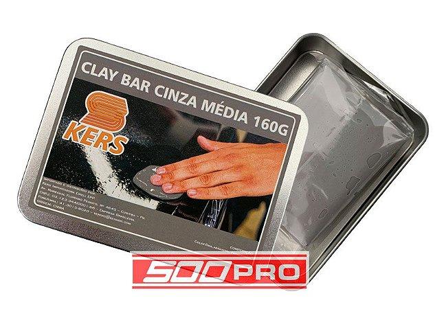 Clay Bar Cinza Média Kers 160g