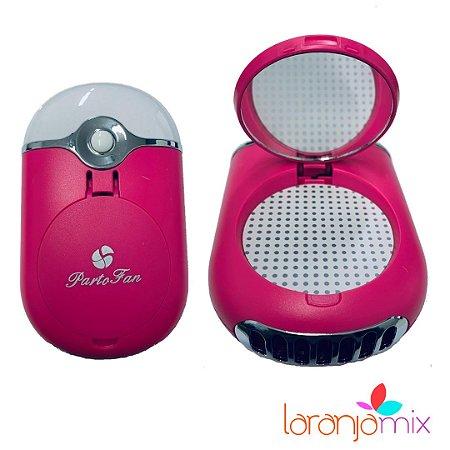 Mini Ventilador Usb Com Espelho
