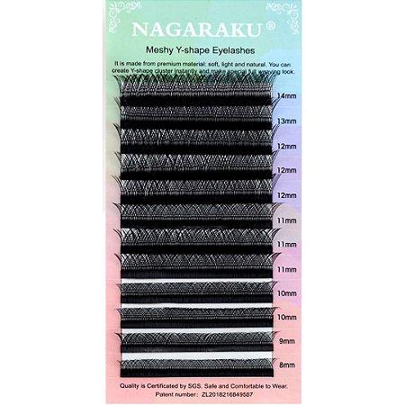 Cílios Y Nagaraku Volume Brasileiro Mix 8 ao 14mm
