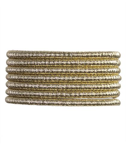 Pulseira de metal dourado madu