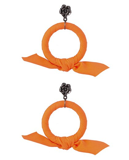 Brinco de argola laranja Miranda