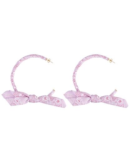 Brinco de argola bandana rosa Celine