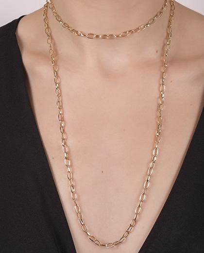 Kit 2 colares dourado Ticiane