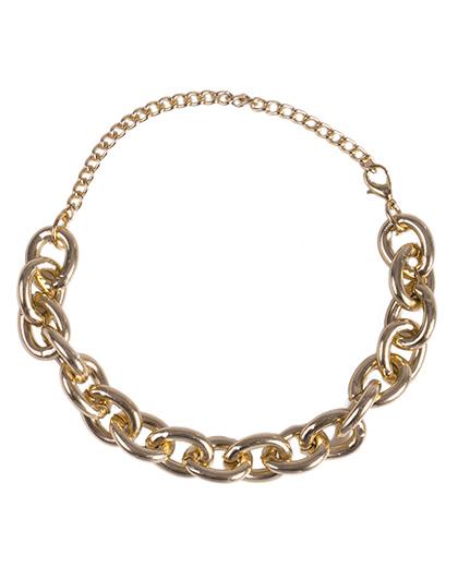 Pulseira de metal dourado Luciana