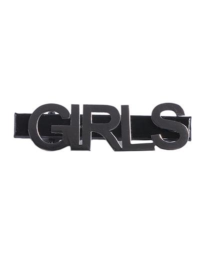 Presilha de metal preto e grafite girls