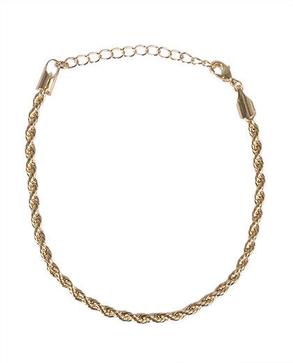 Pulseira de metal dourado micaela