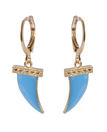 Argola de metal dourado com azul antônia