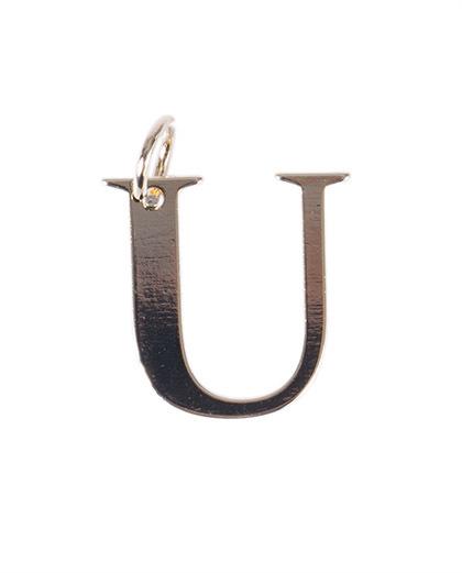 Pingente dourado letra u