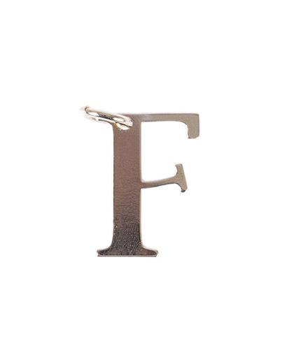 Pingente dourado letra f
