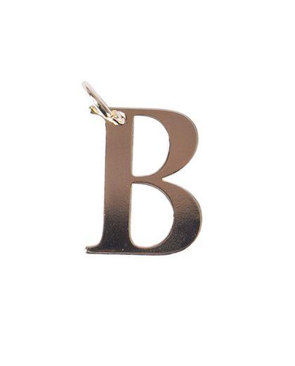 Pingente dourado letra b