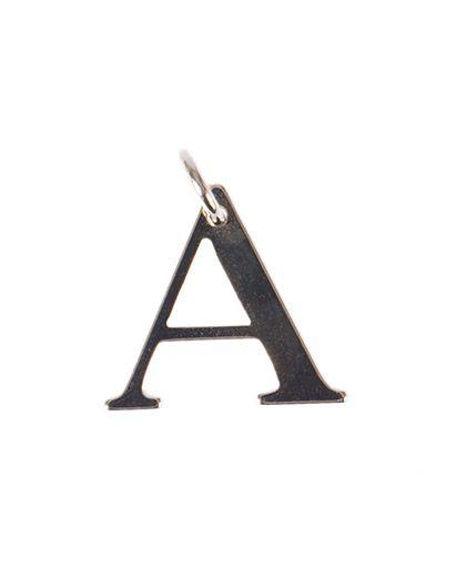 Pingente dourado letra a