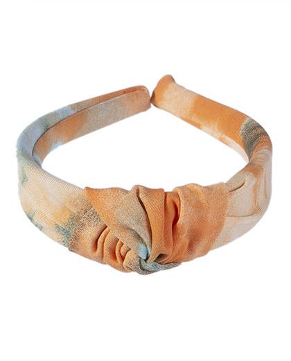 Tiara de tecido tie dye 11