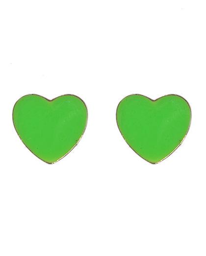 Brinco pequeno dourado e verde baleth