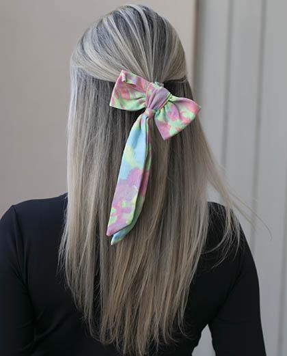Laço de tecido tie dye way