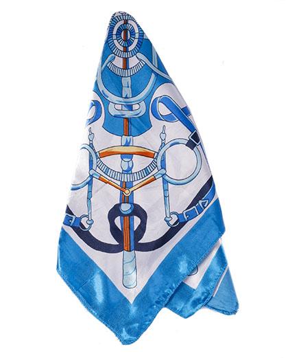 Lenço de cetim azul lust