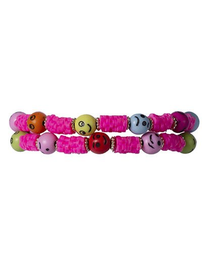 Kit 2 pulseiras rosa dalila
