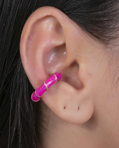 Piercing fake dourado e pink jolie
