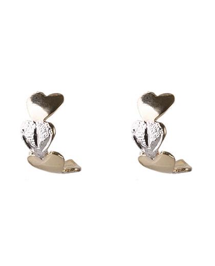 Argola folheada dourada e prata zanky