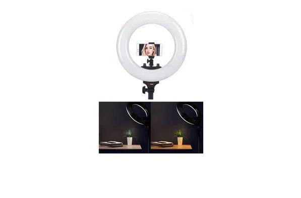 "Iluminador Circular Led Ring Light 19"" Bi-Color 60W Profissional (Fonte Bivolt)"