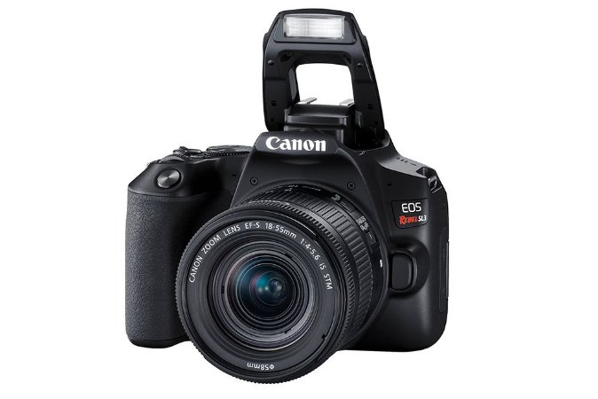 Câmera Canon EOS Rebel SL3 com lente 18-55mm IS STM